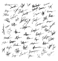 Signatures set abstract business autograph vector
