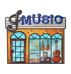 A music store vector