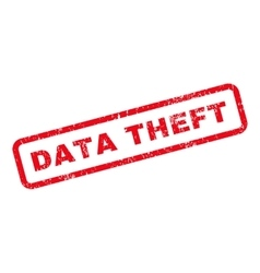 Data theft text rubber stamp vector