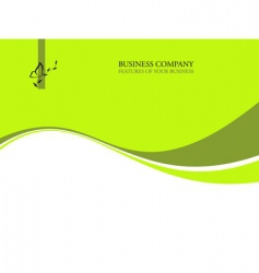 Ecology business background vector