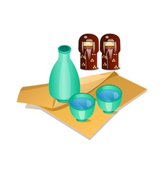 Icon japanese traditional alcohol vector