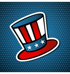 Usa elections american hat vector
