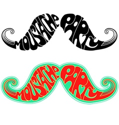 Retro party Moustaches isolated on white vector image