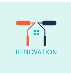Renovation house remodelingflat designnegative vector