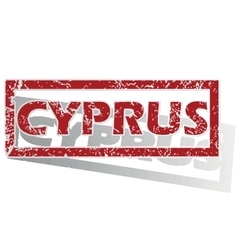 Cyprus outlined stamp vector