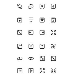 Arrows icons 13 vector