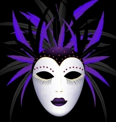 Carnival purple dark mask vector