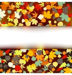Colorful autumnal design vector