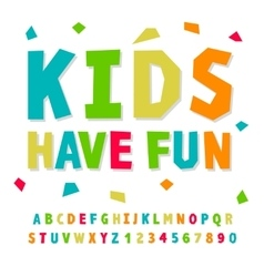 Creative kids funny alphabet and numbers vector