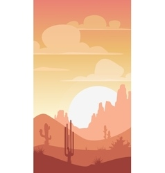 Cartoon desert landscape vector image