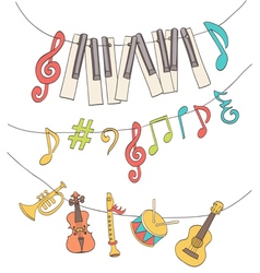 Cute musical signs vector