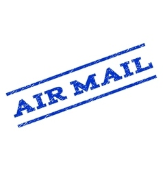 Air mail watermark stamp vector