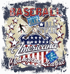Baseball americana crack vector