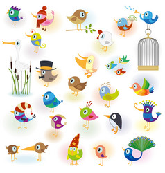 Birds set14 vector image vector image