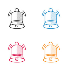 christmas bell dotted style vector image