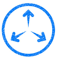 Expand arrows rounded grainy icon vector