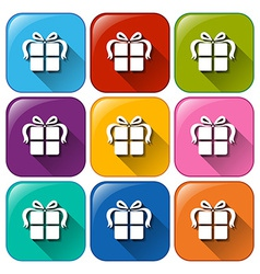 Gift buttons vector