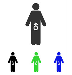 Male potence flat icon vector