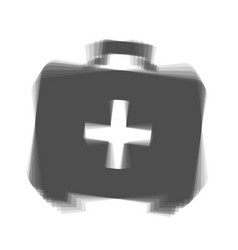 Medical first aid box sign gray icon vector
