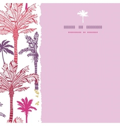 Palm trees seamless square torn pattern background vector image vector image