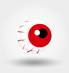 red eye icon flat vector image
