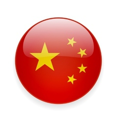 Round icon with flag of China vector image vector image