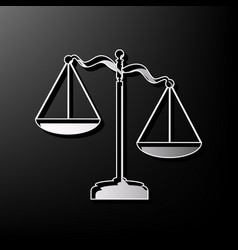 Scales of justice sign gray 3d printed vector