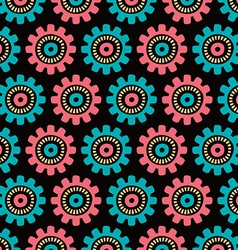 seamless floral patterned background vector image vector image