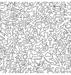 Seamless pattern with different arrows vector image