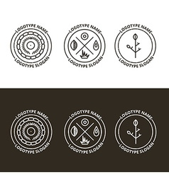 Set of nature and travelling logo in eps vector