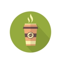 Takeaway coffee icon vector