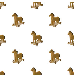 Trojan horse icon in cartoon style isolated on vector