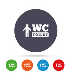 Wc men toilet sign icon restroom symbol vector