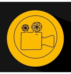 Silhouette head concept cinema camera vector