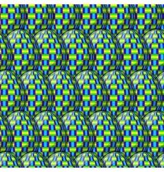 Egg interlace pattern vector