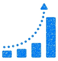 Bar chart trend grainy texture icon vector