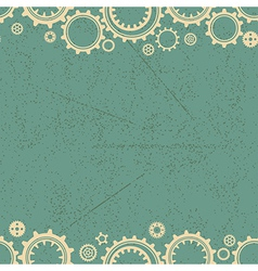Seamless texture or different gear wheels vector image