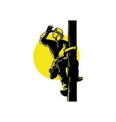 Power Lineman vector image