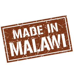 Made in malawi stamp vector