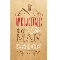 Barbershop poster kraft vector