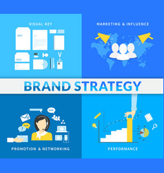 Infographic of brand strategy - four vector