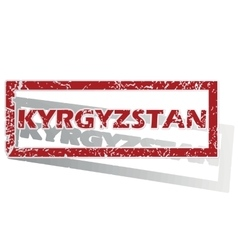Kyrgyzstan outlined stamp vector