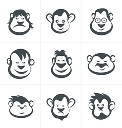 Monkey head icon vector