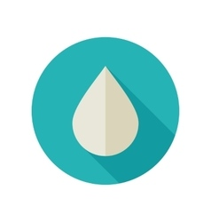Water rain drop flat icon meteorology weather vector