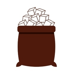Sugar bag isolated icon design vector