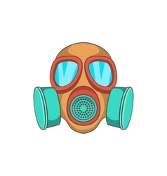 Gas mask icon cartoon style vector