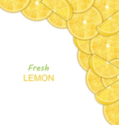 Abstract border with sliced lemons vector
