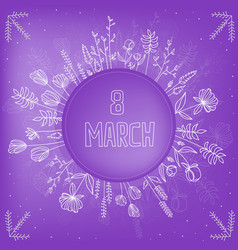 beautiful background for international womens day vector image
