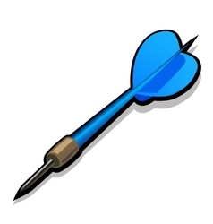 Blue dart for Darts Icon on white background vector image