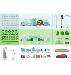 City Buildings Infographic vector image